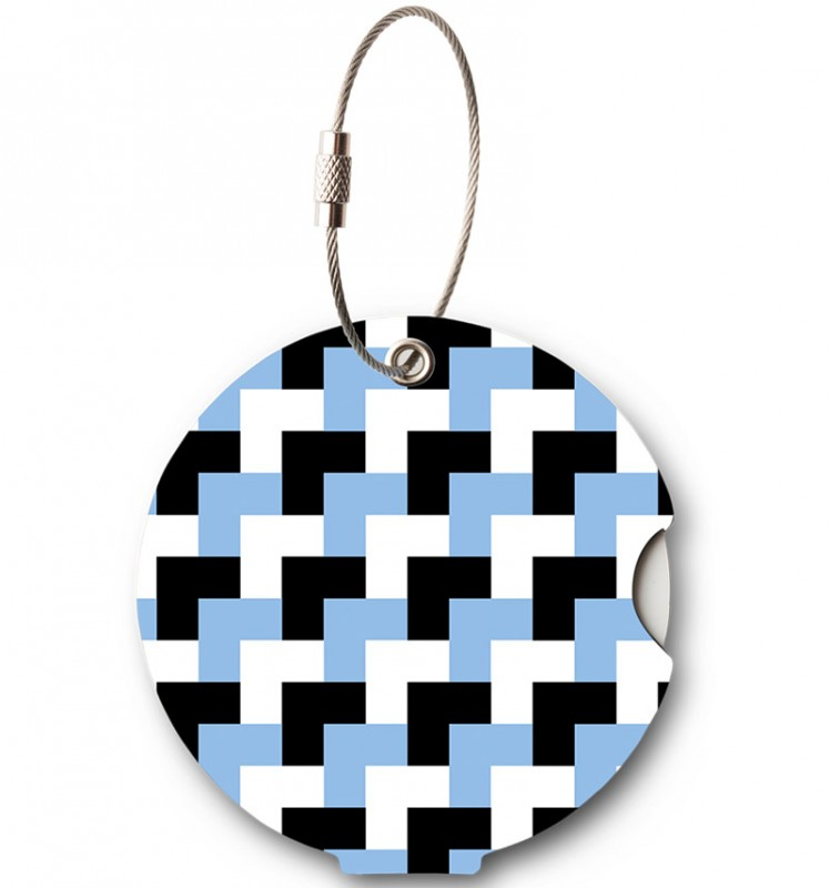 Addatag - Jmenovka na kufr - vzor Bricks blue