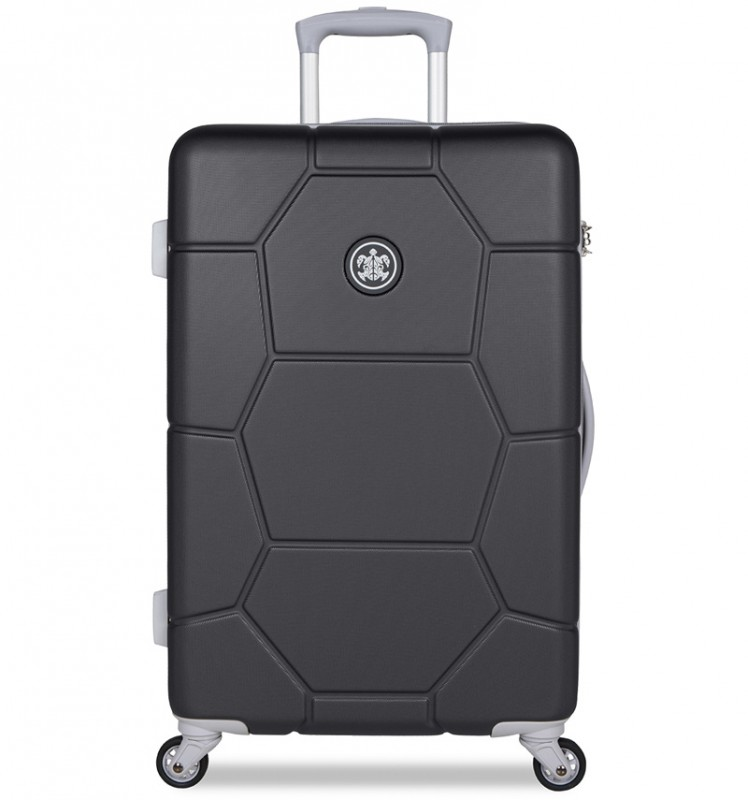 SuitSuit CARETTA Cestovní kufr z ABS 65 cm - Jet Black