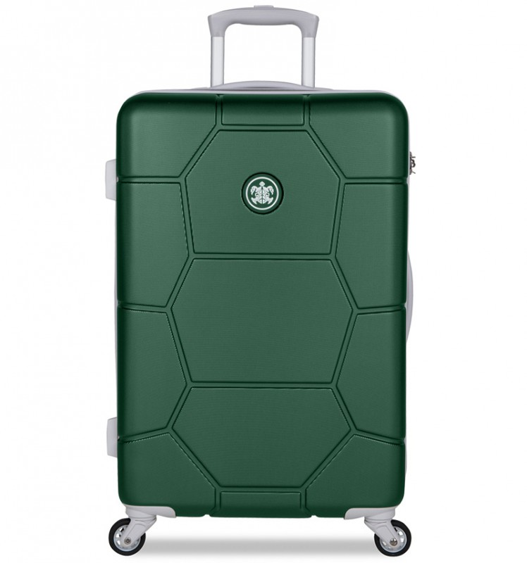SuitSuit CARETTA Cestovní kufr z ABS 65 cm - Jungle Green