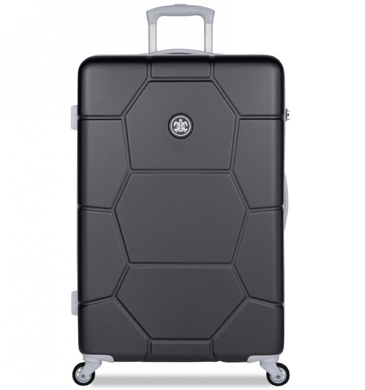 SuitSuit CARETTA Velký cestovní kufr z ABS 75 cm - Jet Black