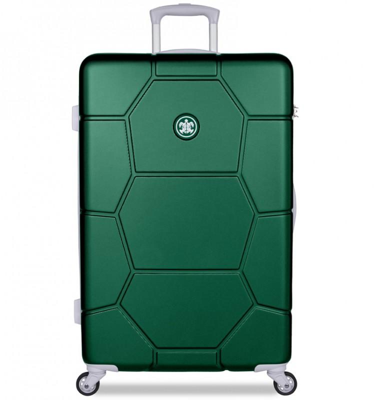 SuitSuit CARETTA Velký cestovní kufr z ABS 75 cm - Jungle Green