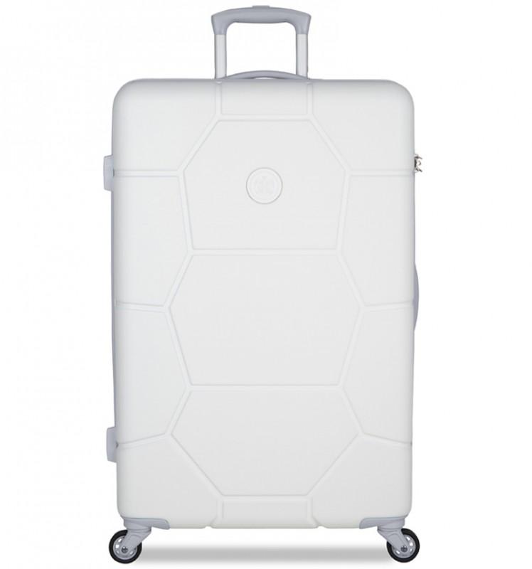 SuitSuit CARETTA Velký cestovní kufr z ABS 75 cm - Whisper White