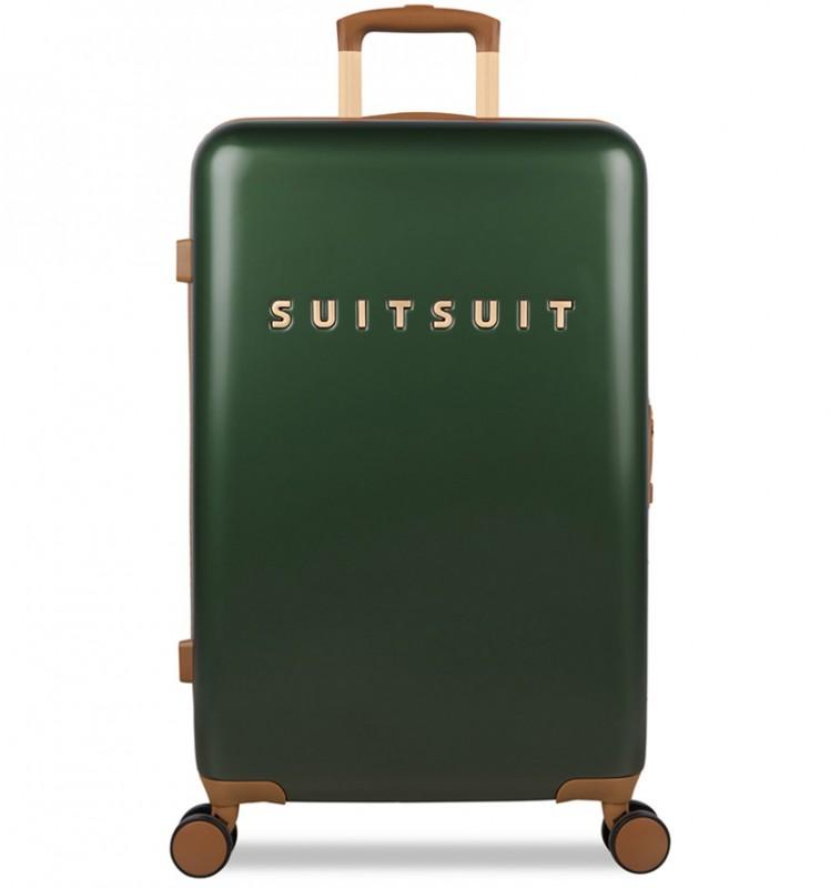 SuitSuit FAB SEVENTIES Velký cestovní kufr 67cm - Beetle Green