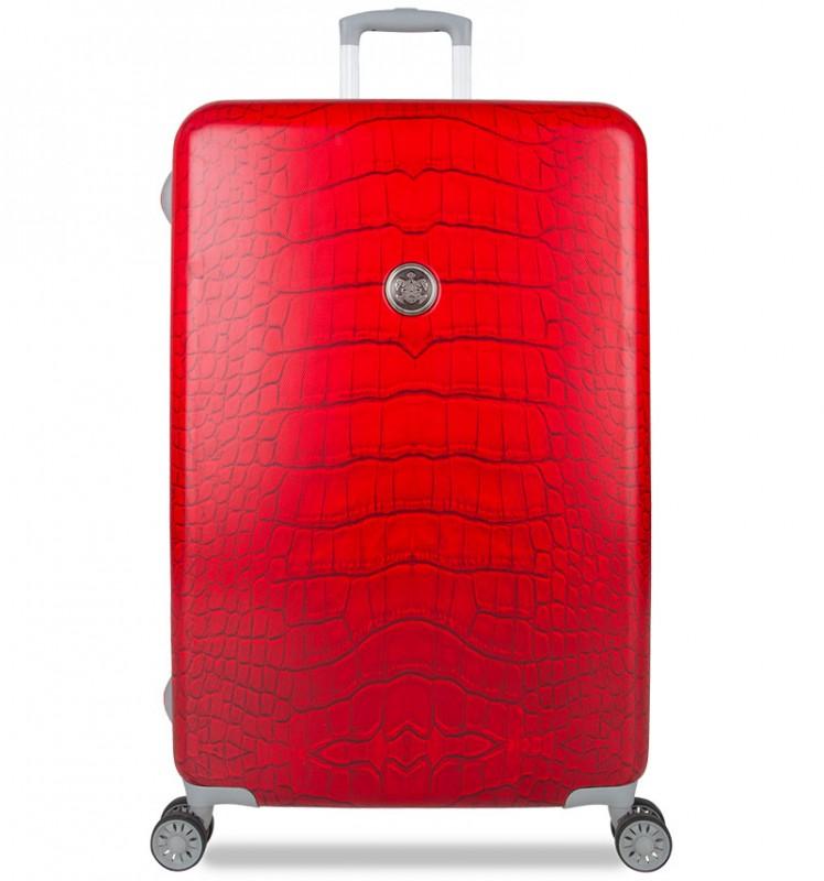 SuitSuit CROCODILE Cestovní kufr 77cm (Red Diamond)