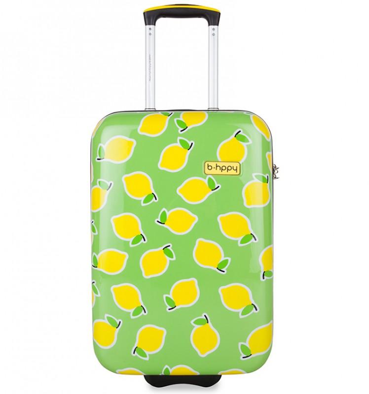 B.HPPY Designový kabinový kufr 52cm - Easy Peasy Lemon Squeezy