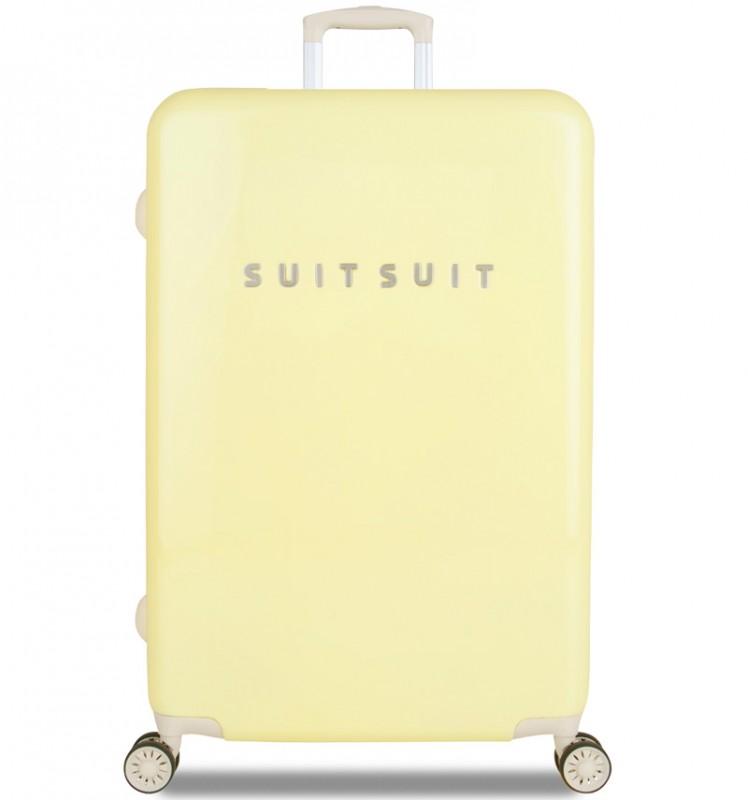SuitSuit FABULOUS FIFTIES Jednoduchý kvaltitní kufr 77 cm (Mango Cream)