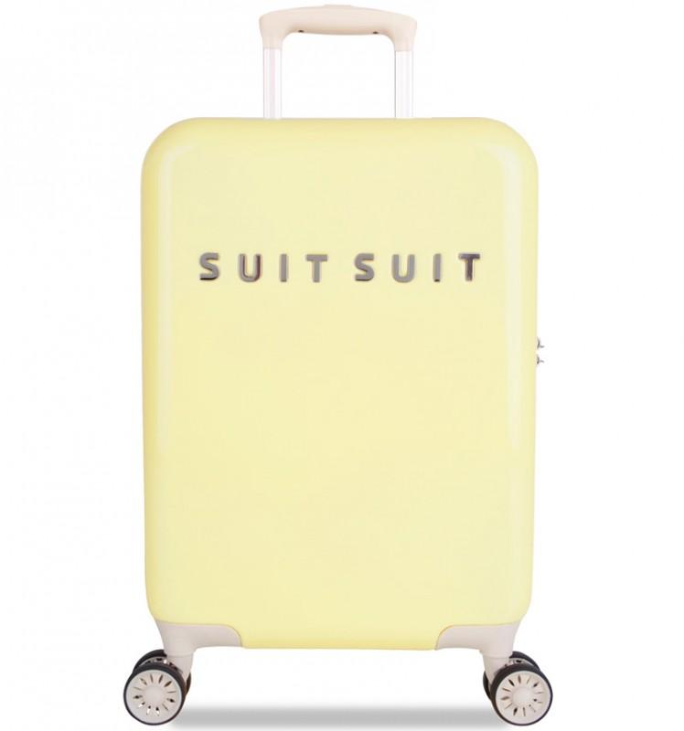 SuitSuit FABULOUS FIFTIES Jednoduchý kvaltitní kufr 55 cm (Mango Cream)
