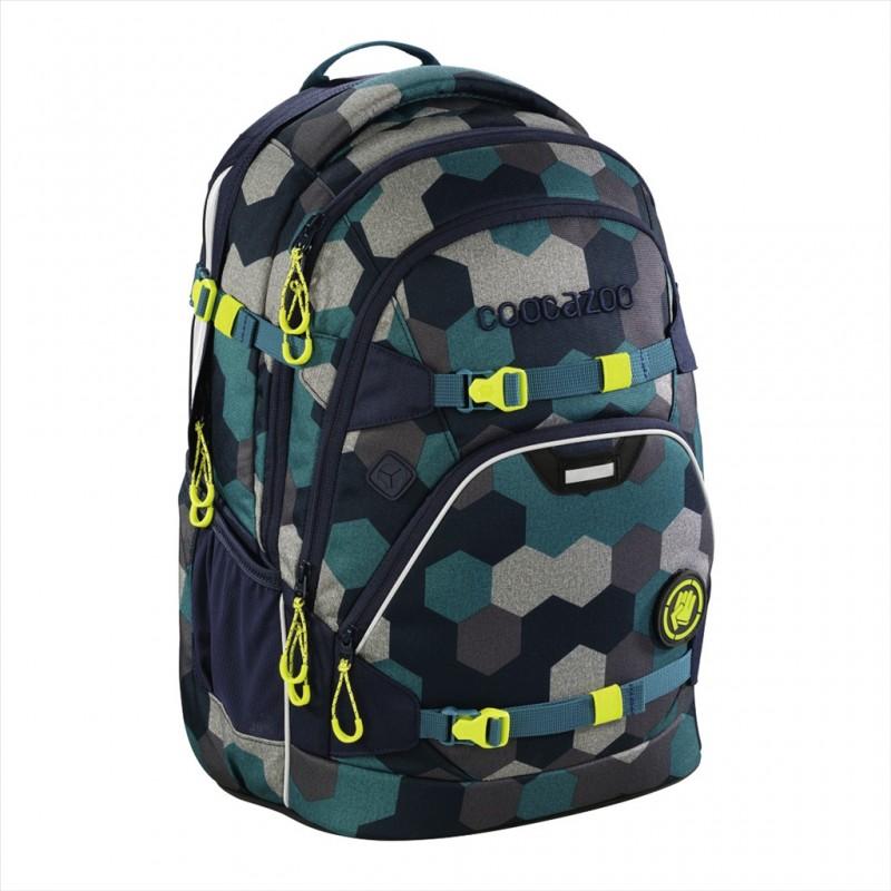 Coocazoo SCALERALE Školní batoh od 3.třídy - Blue Geometri, certifikát AGR