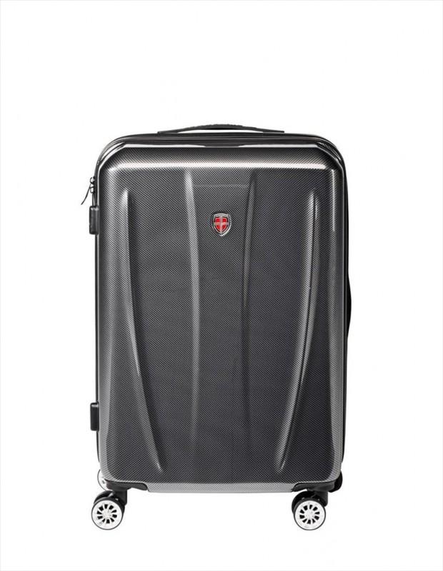 Ellehammer CARBON Velký cestovní kufr 76 cm (Black)