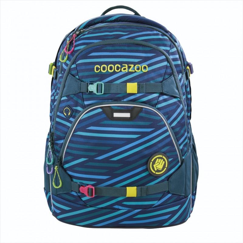 Coocazoo SCALERALE Školní batoh od 3.třídy - Zebra Stripe Blue, certifikát AGR