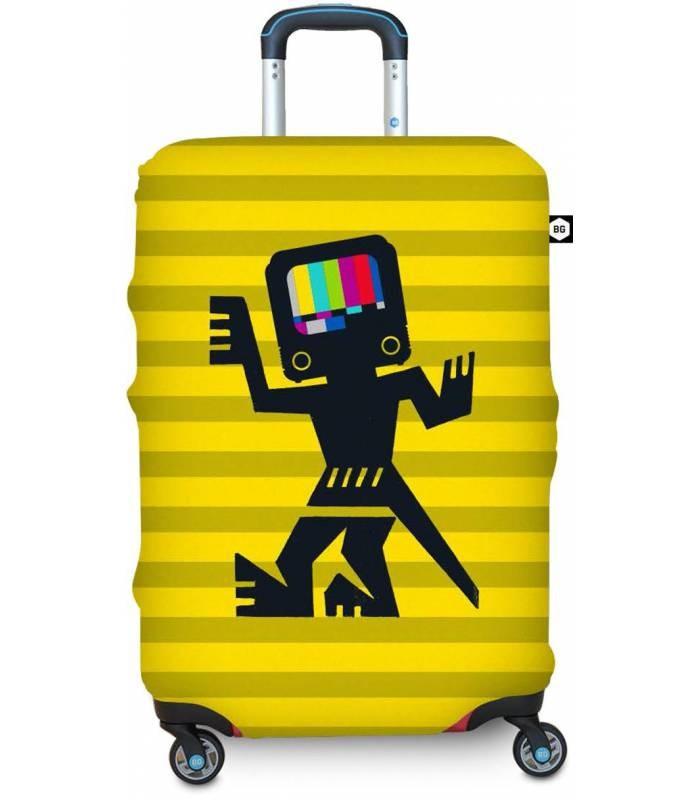 BG Berlin HUG COVER Obaly na kufr, vel. S - vzor Cave Man Yellow