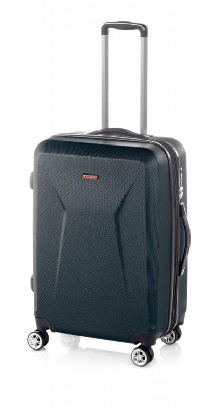 Gladiator IGUANA Rozšířitelný cestovní kufr z ABS 68cm (Black)