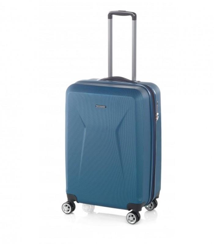 Gladiator IGUANA Rozšířitelný palubní kufr z ABS 55cm (Prusia Blue)