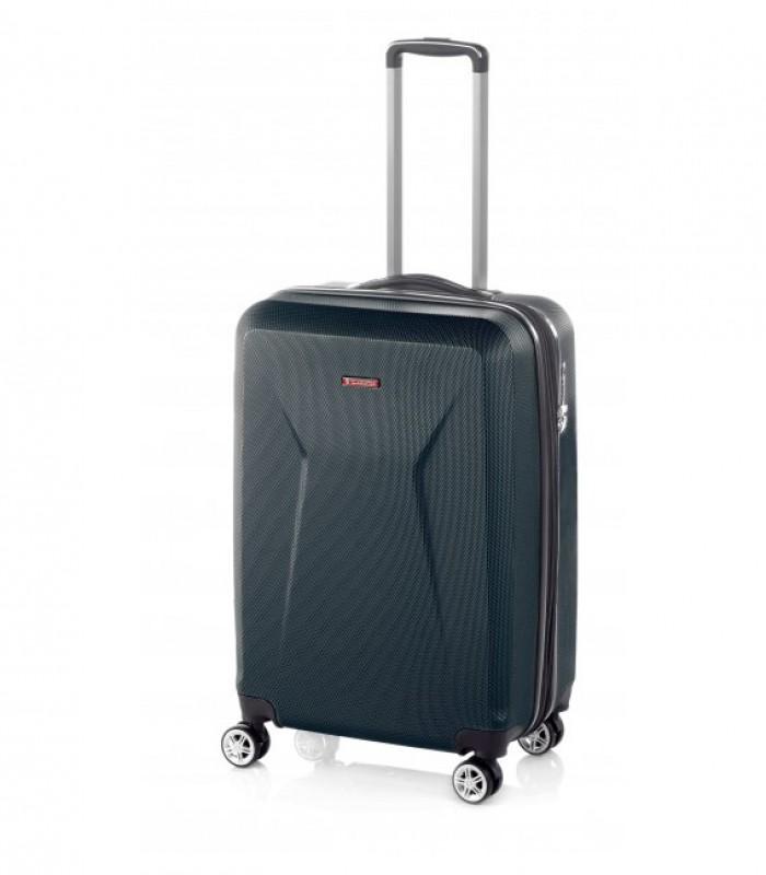 Gladiator IGUANA Rozšířitelný palubní kufr z ABS 55cm (Black)
