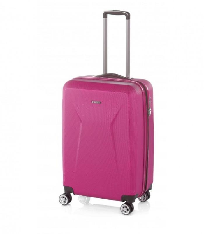 Gladiator IGUANA Rozšířitelný palubní kufr z ABS 55cm (Punche Pink)