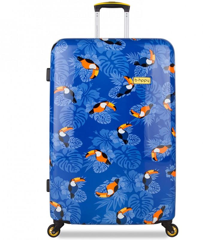 B.HPPY Designový kufr 77cm - I can Toucan