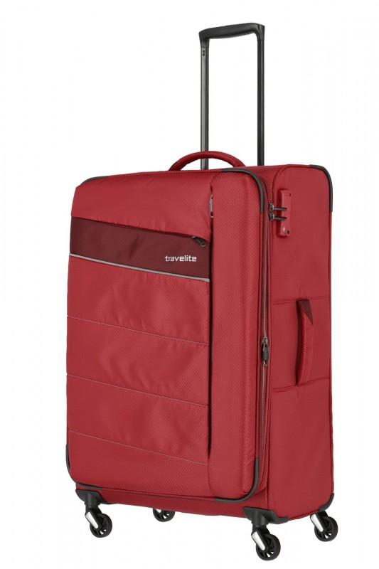 Travelite KITE Ultra lehký rozšířitelný kufr 4 kolečka, L (Red)