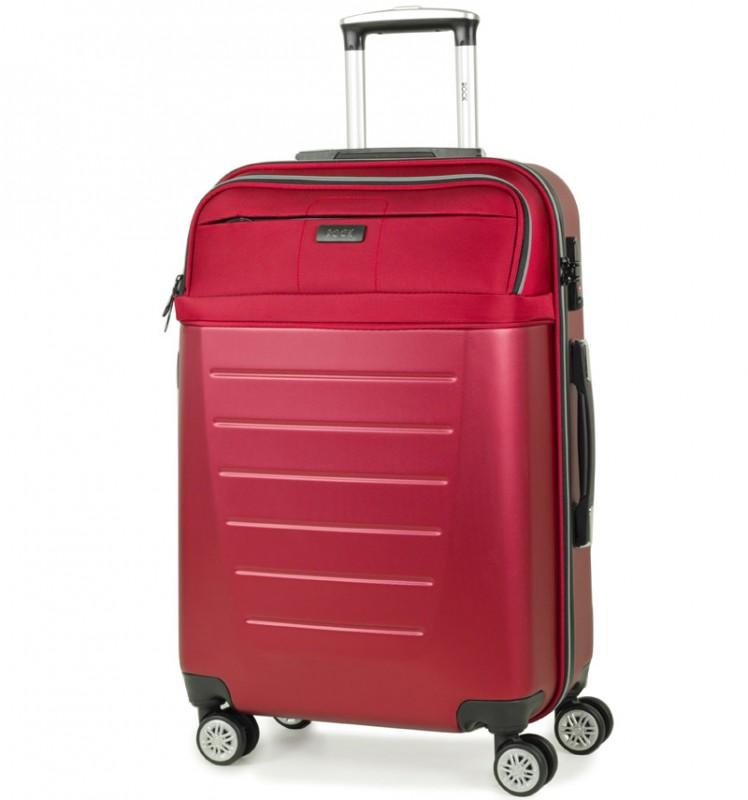 Rock HYBRID Cestovní kufr s TSA zámkem 67cm (červený)