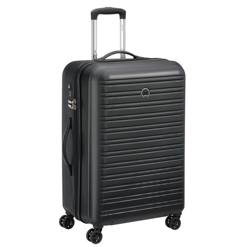 Delsey SEGUR Cestovní kufr 4 dvojitá kola 70cm (Black)