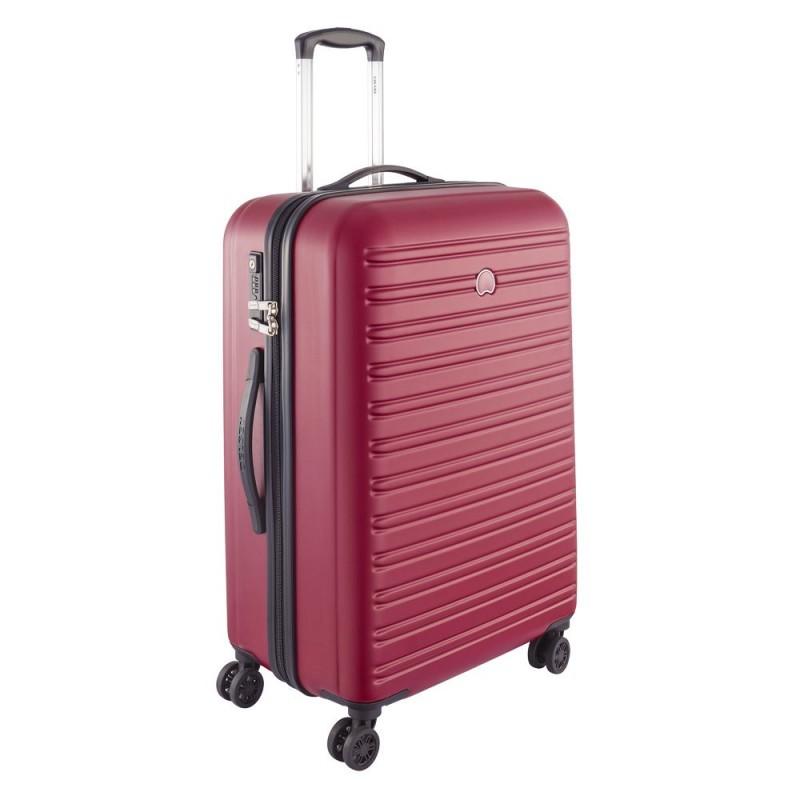 Delsey SEGUR Cestovní kufr 4 dvojitá kola 70cm (Red)