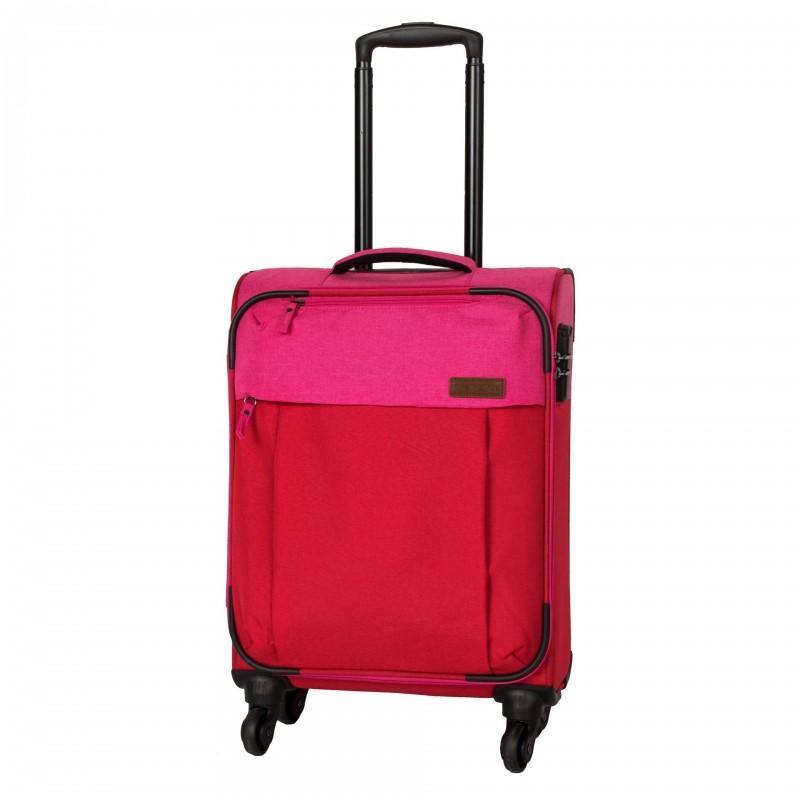 Travelite NEOPAK Textilní kufr v retro stylu 55cm (Red/pink)