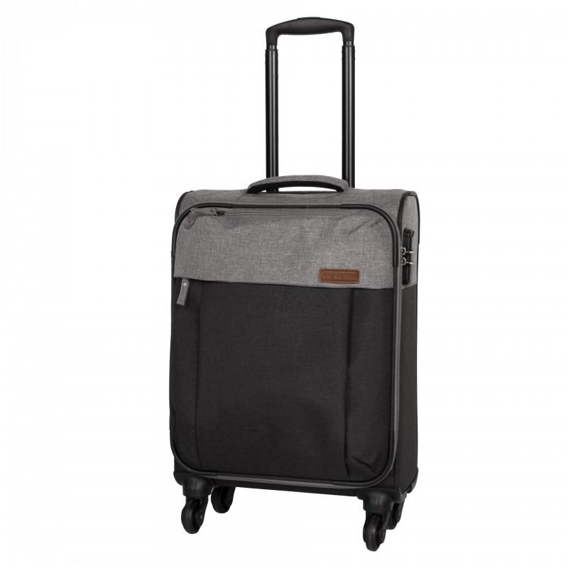 Travelite NEOPAK Textilní kufr v retro stylu 55cm (Anthracite/grey)