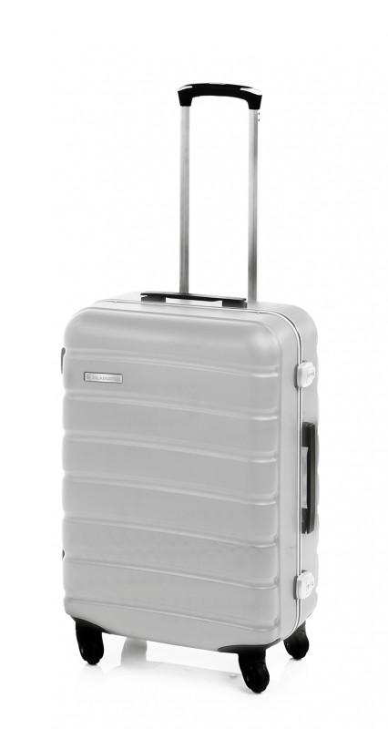 Gladiator LERIA Vodotěsný polykarbonový kufr s hliníkovým rámem 53cm (Silver)