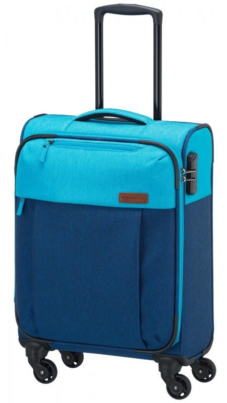 Travelite NEOPAK Textilní kufr v retro stylu 55cm (Navy/blue)