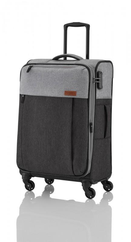 Travelite NEOPAK Textilní rozšířitelný retro kufr 67cm (Anthracite/grey)