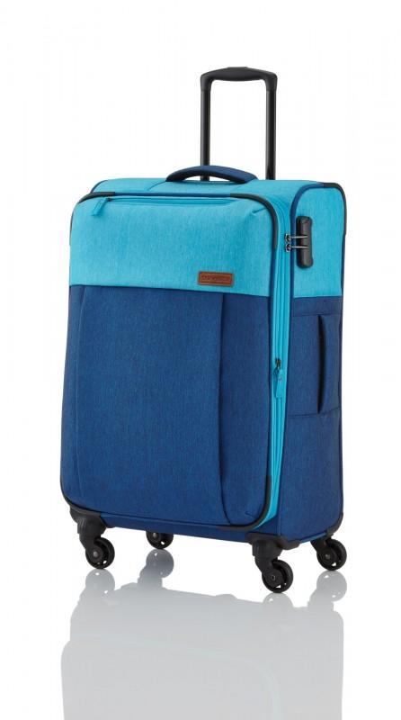 Travelite NEOPAK Textilní rozšířitelný retro kufr 67cm (Navy/blue)