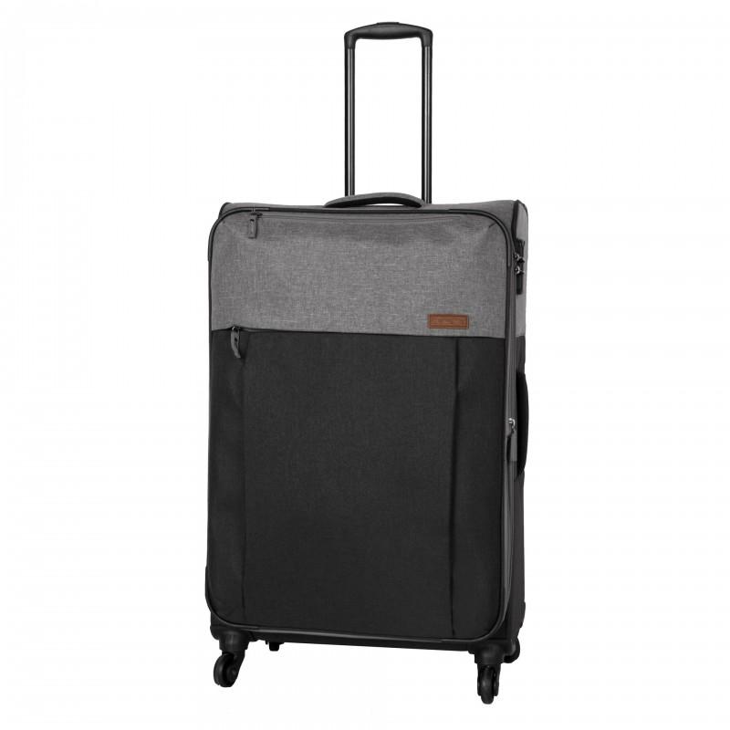 Travelite NEOPAK Velký retro textilní rozšířitelný kufr 77cm (Anthracite/grey)