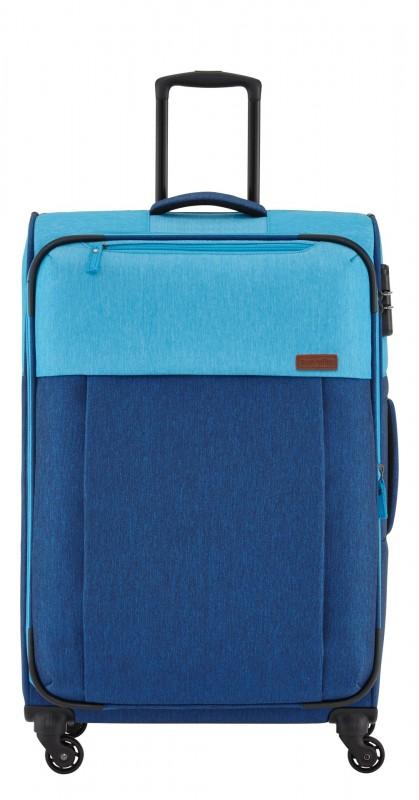 Travelite NEOPAK Velký retro textilní rozšířitelný kufr 77cm (Navy/blue)