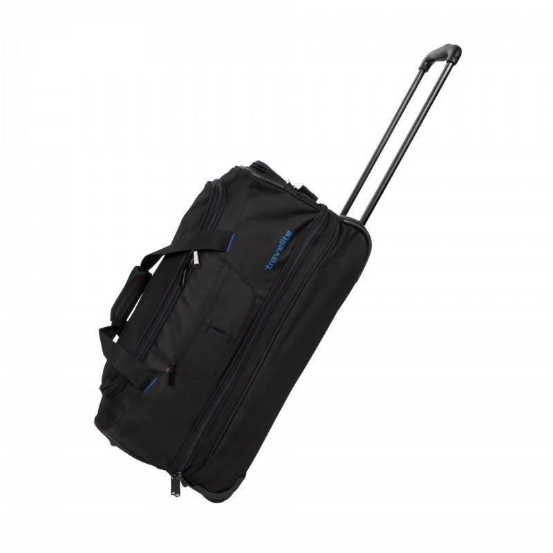Travelite BASICS Cestovní taška na dvou kolečkách (Black/blue)