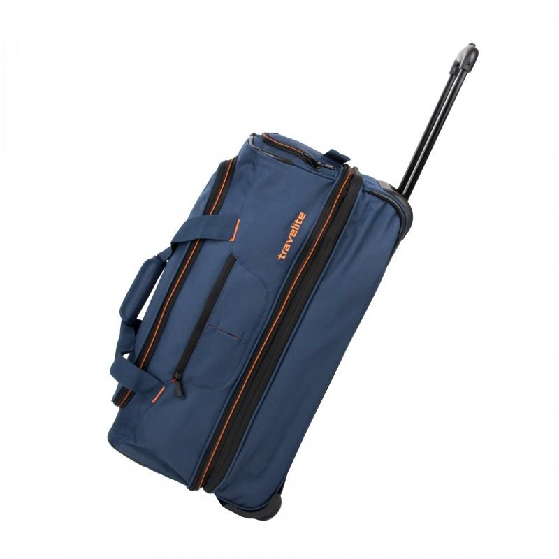 Travelite BASICS Cestovní taška 2 kolečka, 55 cm (Navy/orange)