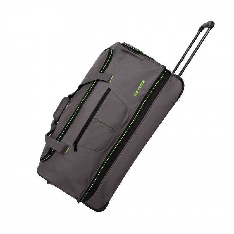 Travelite BASICS Cestovní taška 2 kolečka, 70 cm (Grey/green)