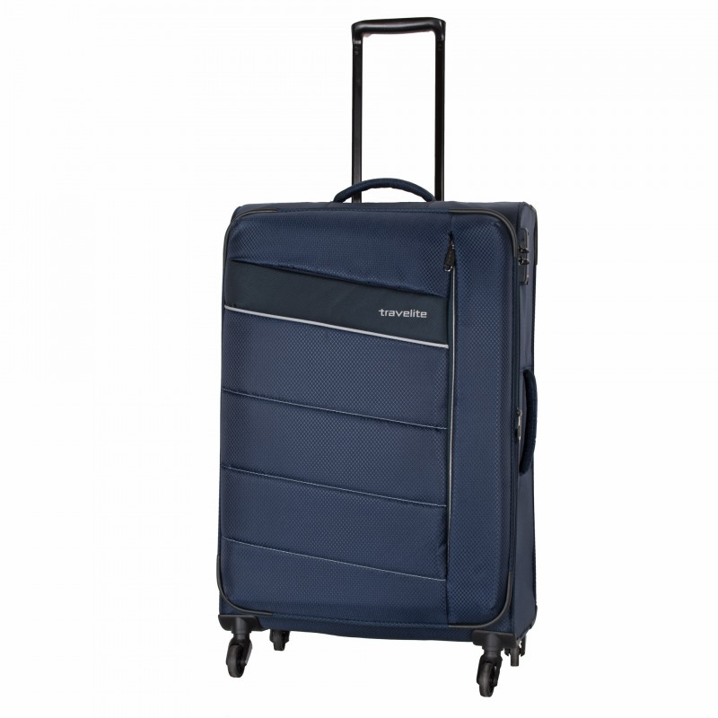 Travelite KITE Ultra lehký rozšířitelný kufr 4 kolečka, L (Navy)