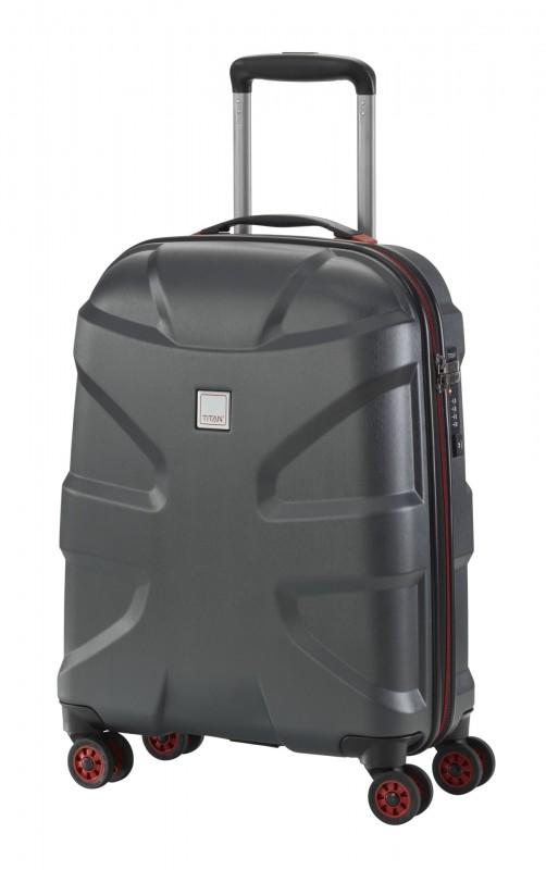 Titan X2 BRUSHED Exkluzivní palubní kufr 55cm (Black)