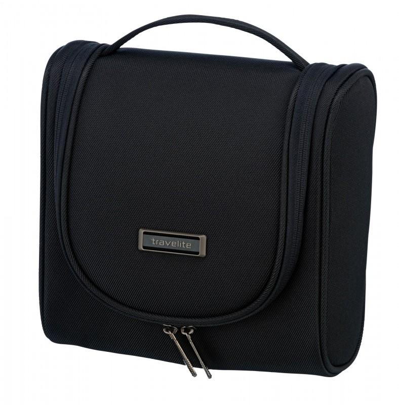 Travelite MOBILE Textilní kosmetická taška s poutkem (Black)