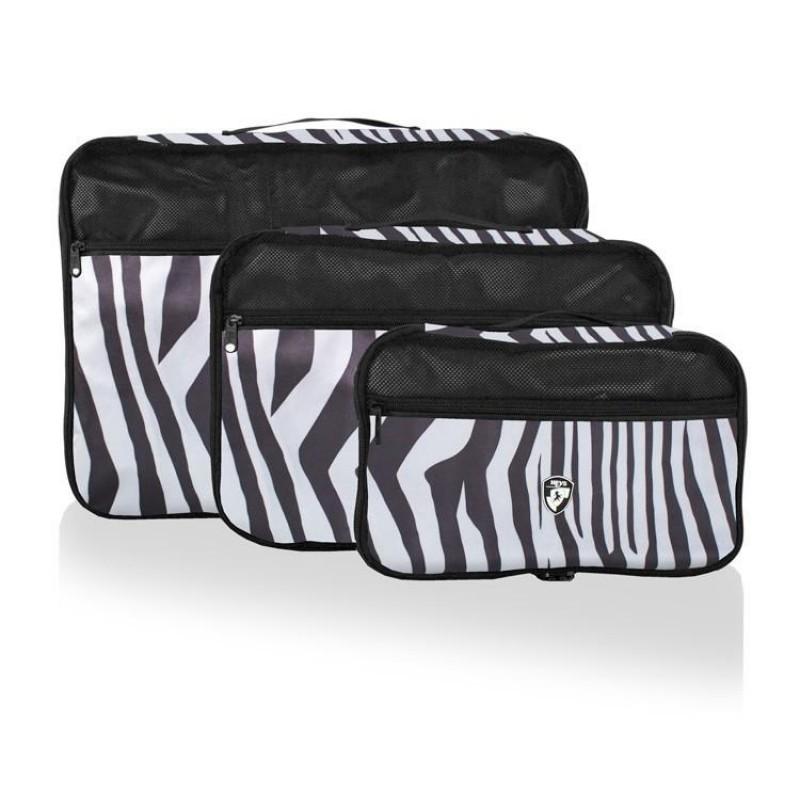 Heys EXOTIC PACKING CUBE Sada tří organizérů (Zebra)