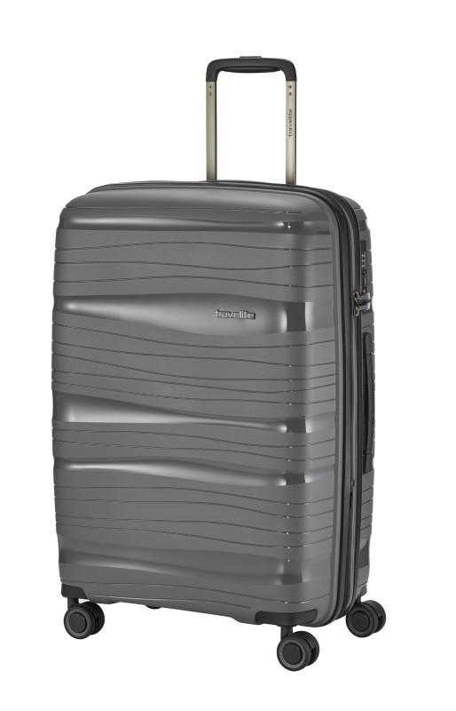 Travelite MOTION Skořepinový kufr s expandérem 67 cm (Anthracite)