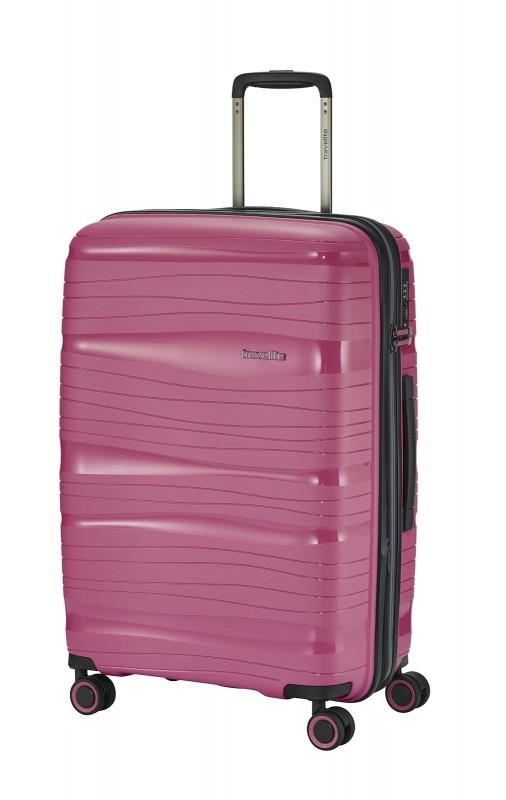 Travelite MOTION Skořepinový kufr s expandérem 67 cm (Rose)