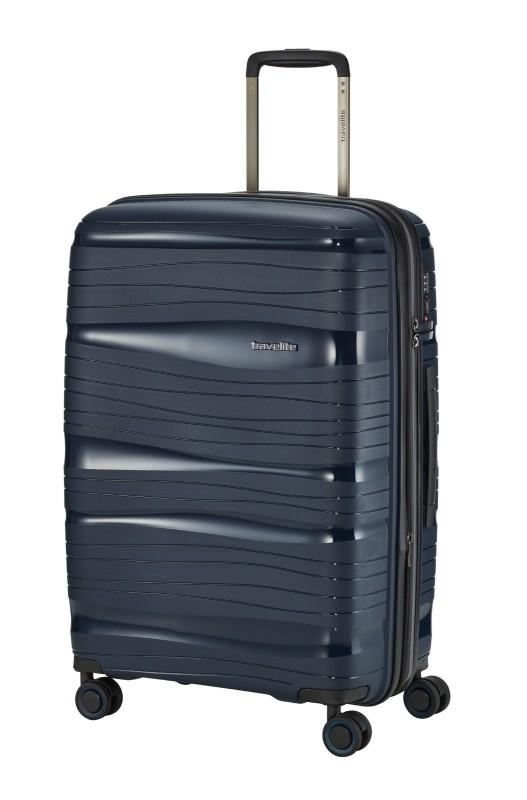 Travelite MOTION Skořepinový kufr s expandérem 67 cm (Navy)