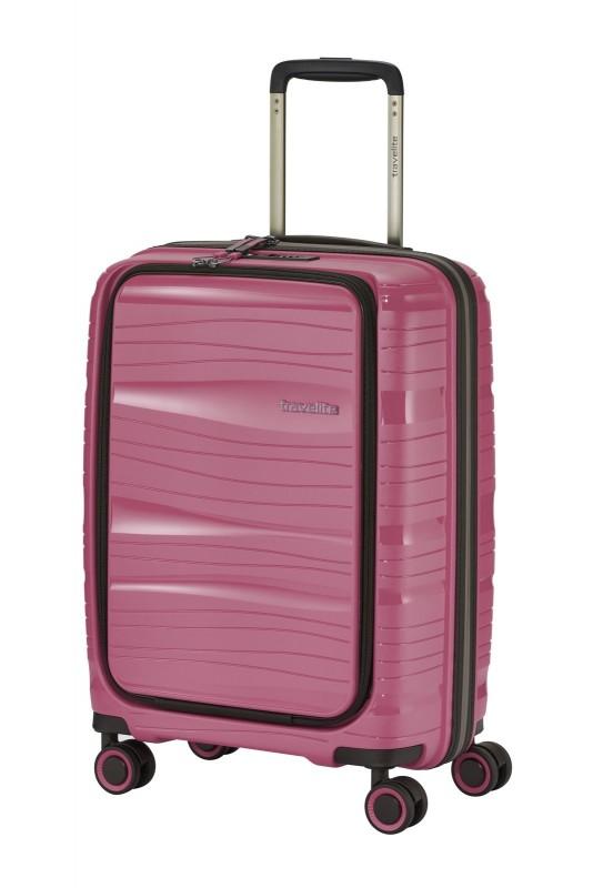 Travelite MOTION Palubní kufr s výklopnou kapsou 55 cm (Rose)