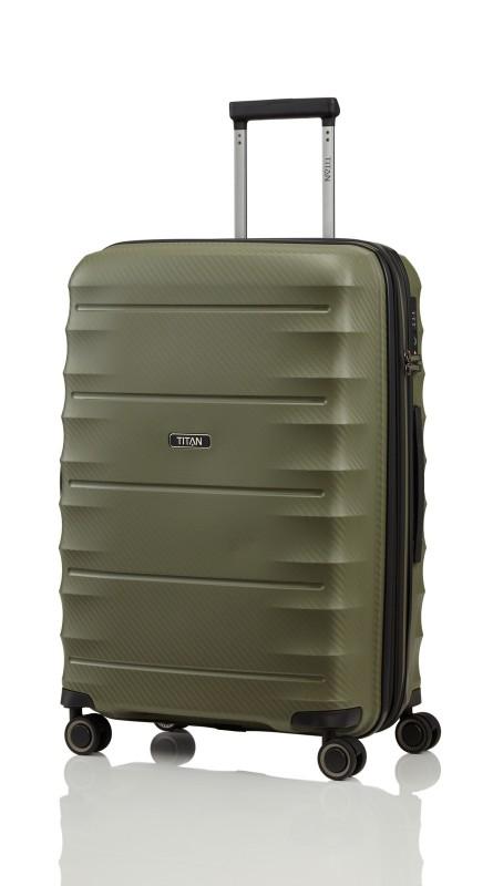Titan HIGHLIGHT Extra odolný skořepinový kufr 67cm (Khaki)