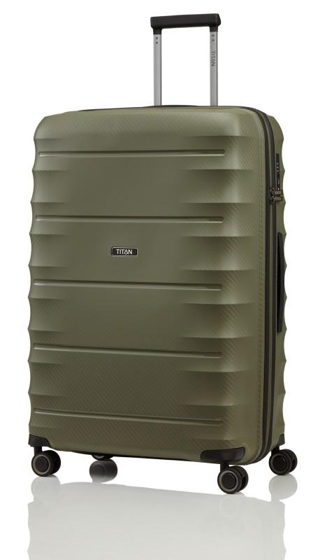 Titan HIGHLIGHT Extra odolný skořepinový kufr 76cm (Khaki)