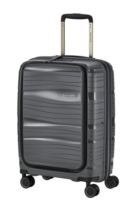 Travelite MOTION Palubní kufr s výklopnou kapsou 55 cm (Anthracite)