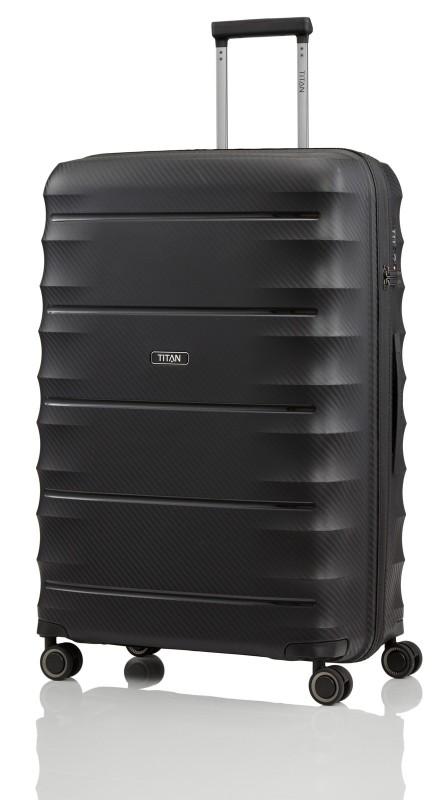 Titan HIGHLIGHT Extra odolný skořepinový kufr 76cm (Black)