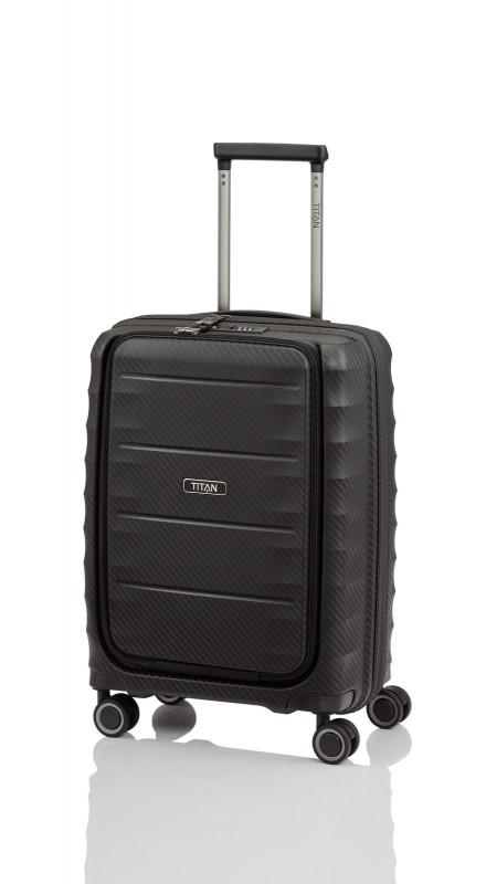Titan HIGHLIGHT Palubní kufr s přední kapsou 55 cm (Black)