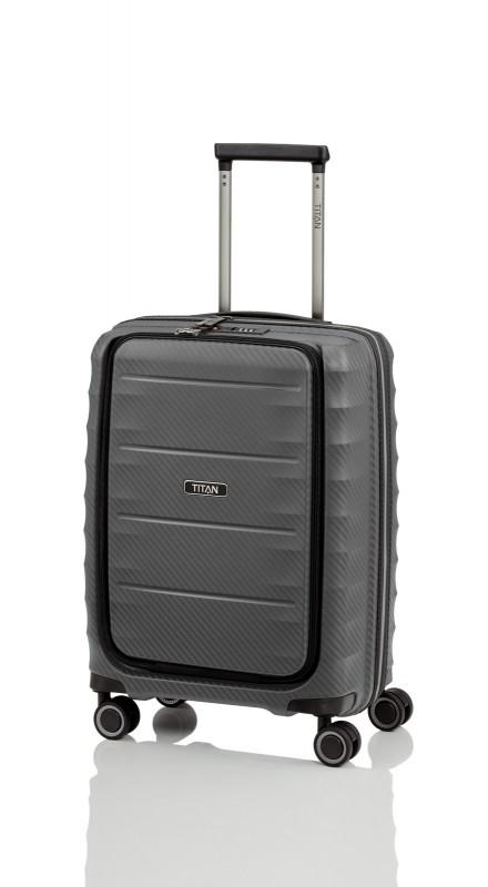 Titan HIGHLIGHT Palubní kufr s přední kapsou 55 cm (Anthracite)