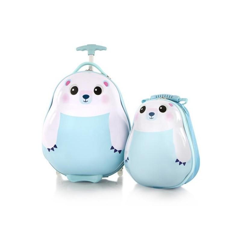 Heys TRAVEL TOTS dětská sada kufru a batohu, motiv Polar Bear